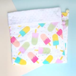 Minky Baby Blanket- Popsicle Pink