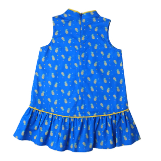 Girly Cheongsam - Wang Pineapple - Blue