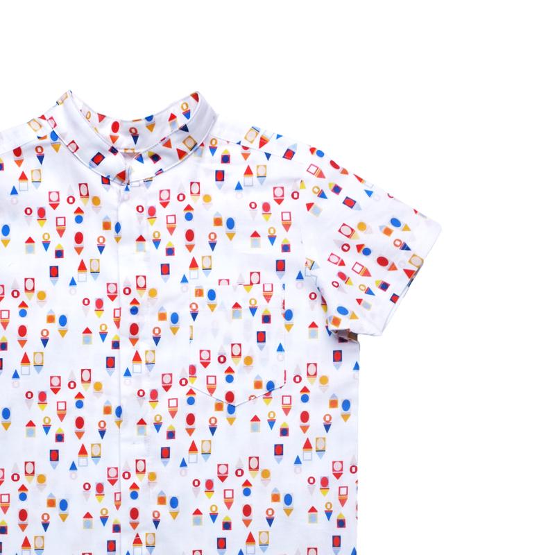 Boy's Mandarin Shirt - Togetherness