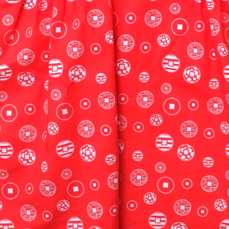 Halter Baby Doll Cheongsam - Fortune Coins Red