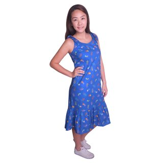 Mommy's Knot Dress - Blue Victory Yay