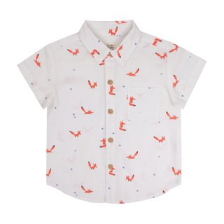 Boys Shirt - Orange Forest Fox