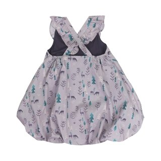 Bubble dress Flutter cross back - Season of Love Grey