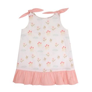 Girl's Knot Dress - Sweet Summer Flower