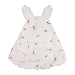 Bubble dress Flutter cross back - Orange Forest Fox
