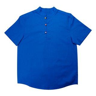 Daddy's V Cut Sleeve Shirt - Classic Blue
