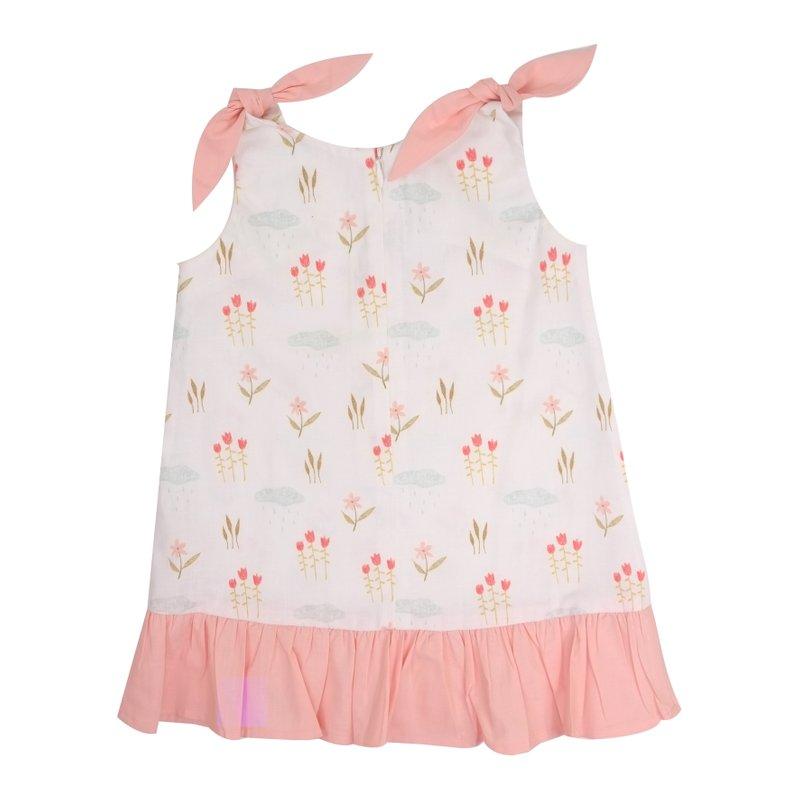 Girl's Knot Dress - Sweet Summer Flower