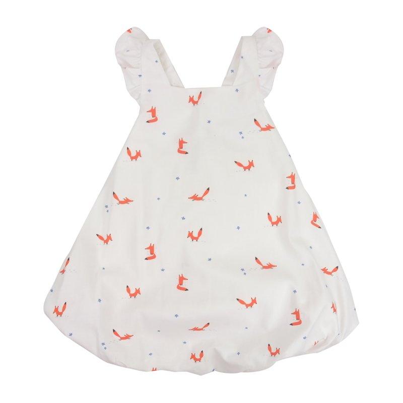 Bubble dress Flutter cross back - Orange Forest Fox