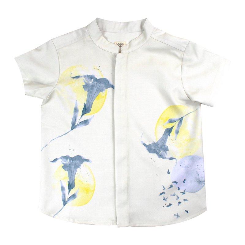Boy's Mandarin Shirt - Clean Slate