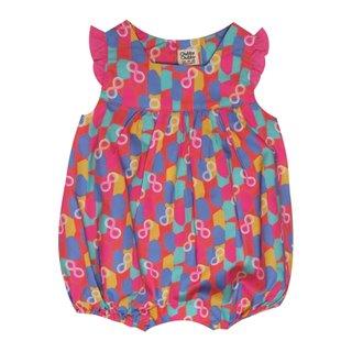 Baby Girl's V Romper - Colorful Infinity Huat