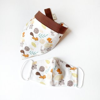 MyCalligraffiti Cotton Fabric Masks- Forest Animals