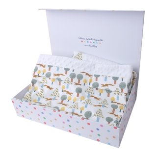 Minky Baby Blanket- Forest Squirrel