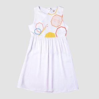 Girl's Butterfly Open Back Dress
