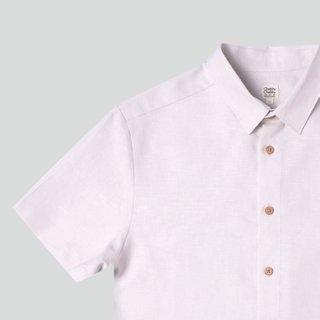 Men's Hexa Linen Shirt- Beige