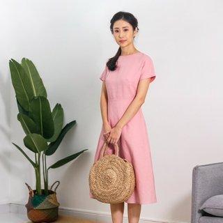 Ladies Open Back Dusty Pink Dress