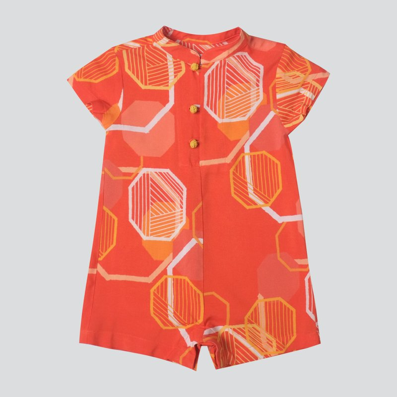 Baby Boy's Abstract Octagon Romper