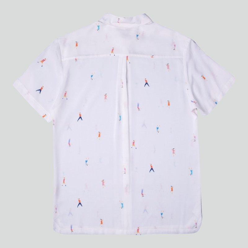 Men's Hexa Shirt- Let's Dance White