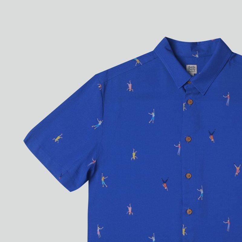 Men's Hexa Shirt- Let's Dance Navy