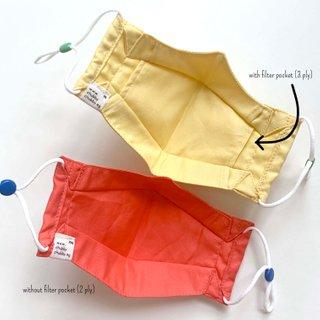 Back To Basics Boxy Cotton Fabric Masks (Without Filter Pocket)