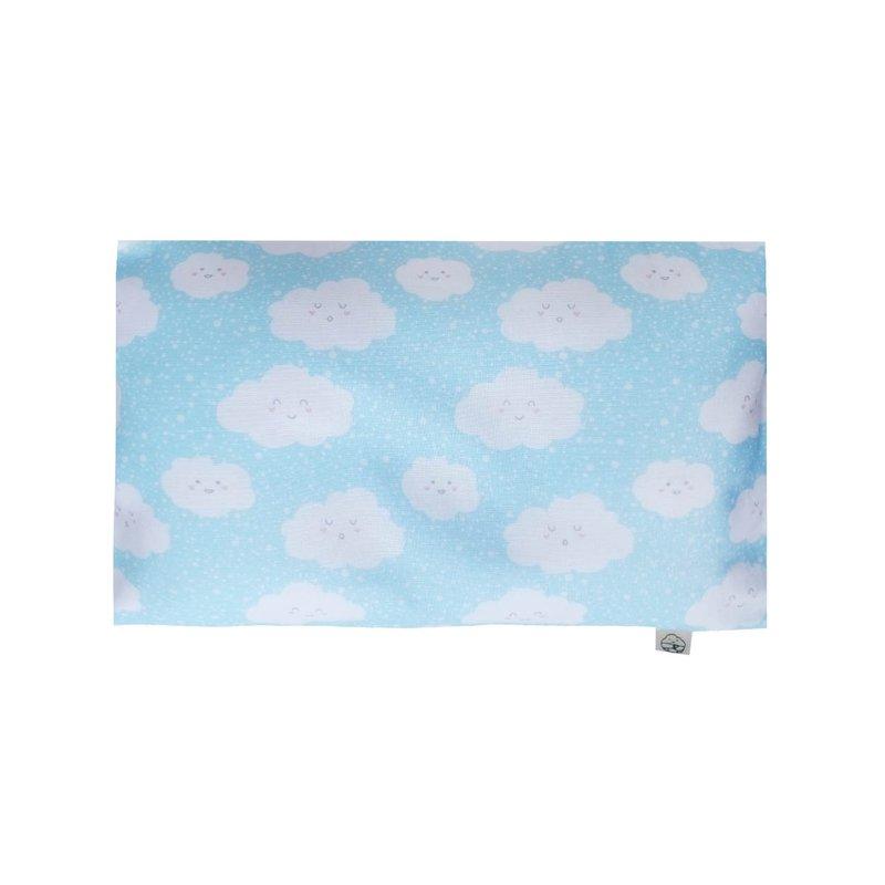 Anti-flat head pillow - Happy Clouds Blue