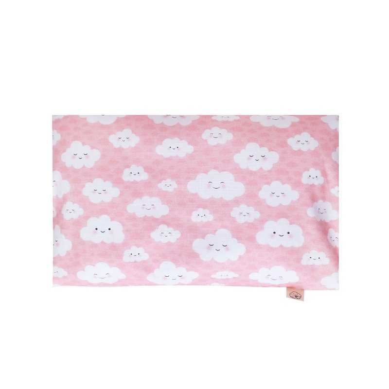 Anti-flat head pillow - Happy Clouds Pink