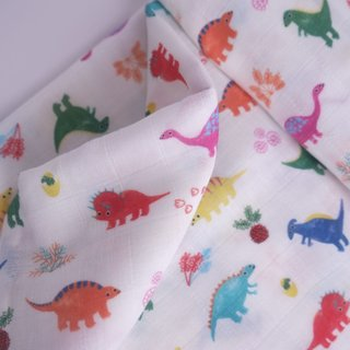 Swaddle Baby Blanket- Crayon Dinos