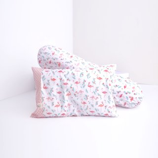 Two is better than one bundle- Pillow & Bolster Fabulous Flamingo