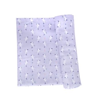 Swaddle Baby Blanket- Lilac Bunnies