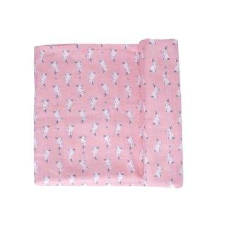 Swaddle Baby Blanket- Pink Bunnies